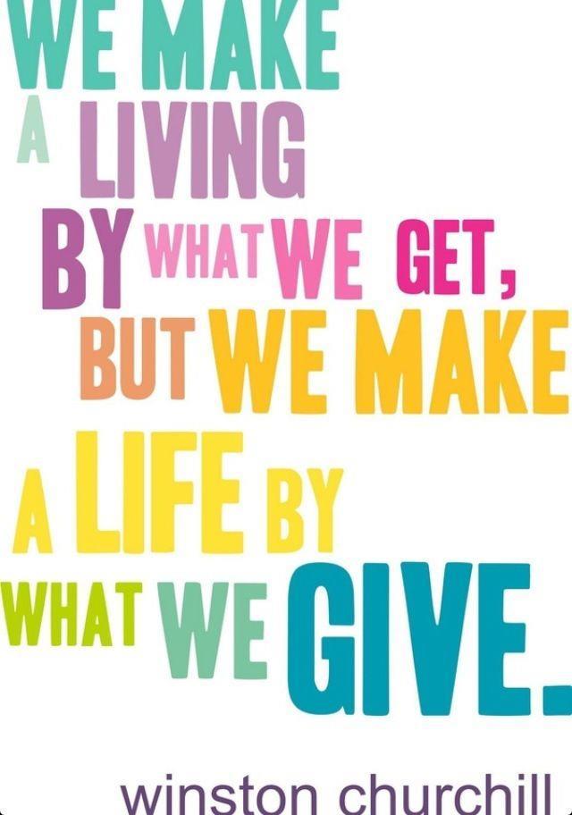 We make a living
