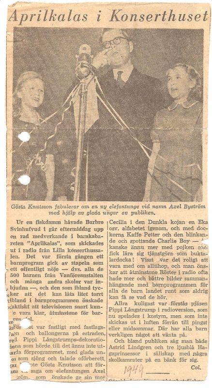 1948 Flickkörens första framträdande