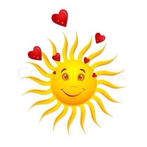Sol med hjärtan