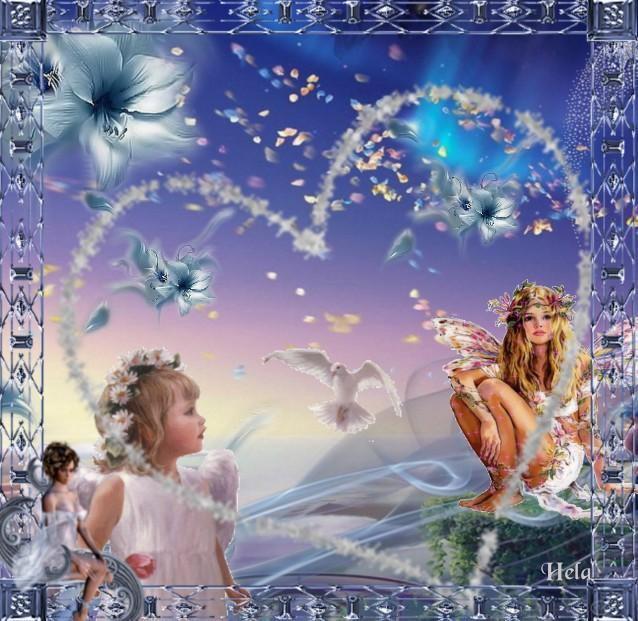 Hjärta med änglar