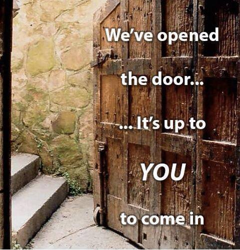 We´ve opened the door...