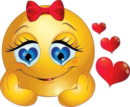 Hjärtan med glad nuna