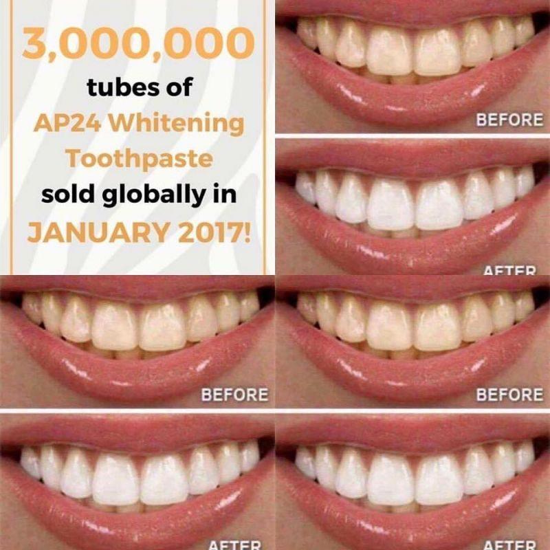 AP-24 WHITENING FLUORIDE TOOTHPASTE. Vitare renare tänder med en enda  formula. Denna avancerade tandkräm ger ljusare tänder samtidigt som den  hjälper till ... f00e71112e719